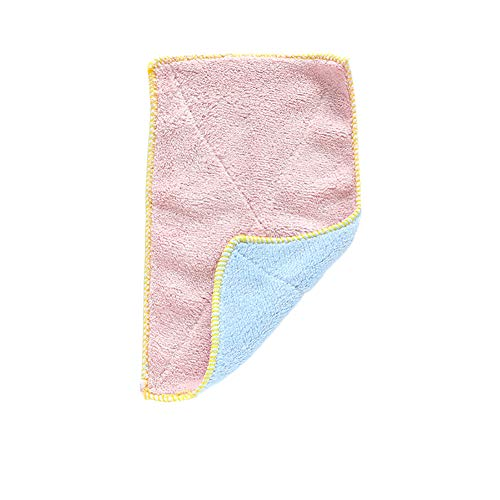 Leisial Chiffon Absorbant Double Face en Microfibre Chiffons de Nettoyage Antiadhésif Chiffons de Serviette Multidonctionnel(1