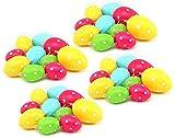 com-four® 40 Gepunktete Ostereier mit Aufhänger in verschiedenen Farben und Größen