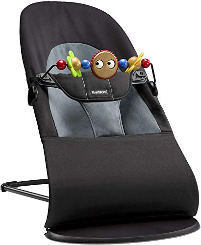 babybjÖrn sdraietta balance soft e giochi in legno per sdraietta, 3,5 - 13 kg (0 - 2 anni), nero/grigio scuro