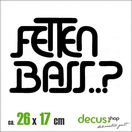 Decus FETTEN Bass XL 1818 // Sticker OEM JDM Style Aufkleber