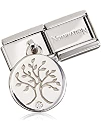 Nomination Tree 925 Silver Charm-Stainless Steel-White Zirconia - 031710 / 29