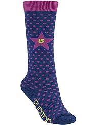 Burton Girls Weekend calcetines de esquí de niña , 2 unidades, otoño/invierno, niña, color Varios colores - Periwinks, tamaño S/M
