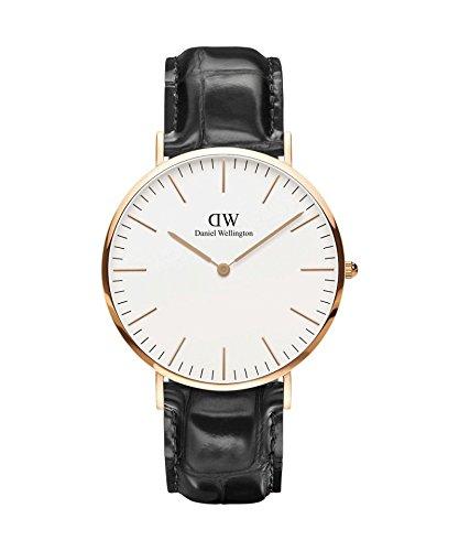 DANIEL WELLINGTON - Reloj de los hombres de 40 mm, DANIEL WELLINGTON CLÁSICO de la LECTURA de la ROSA-el ORO-DW00100014