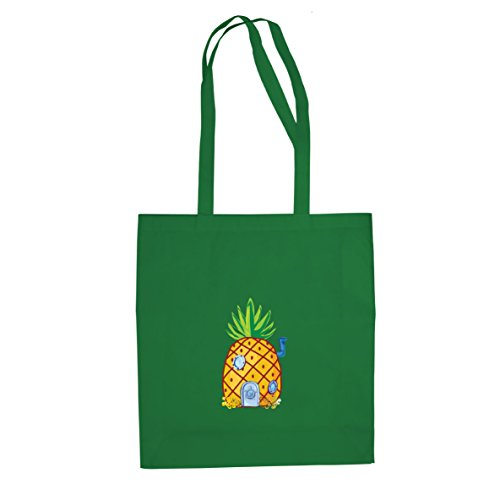 Ananas tief im Meer - Stofftasche / Beutel, Farbe: (Ballon Kostüm Grüne)