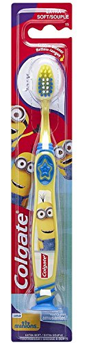 Colgate Kids Minions Toothbrush Suction cup Age 2-6 Years Extra Soft