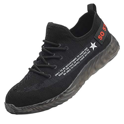 BHYDRY Männer und Frauen Paare Arbeitsversicherung Schuhe Baotou Anti-Smashing-Sicherheitsschuhe Turnschuhe Arbeitsschuhe (39,Grau)