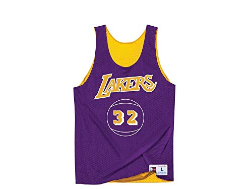 Mitchell & Ness Magic Johnson Los Angeles Lakers Reversible Mesh Tank Top - Wende Jersey (XL) -