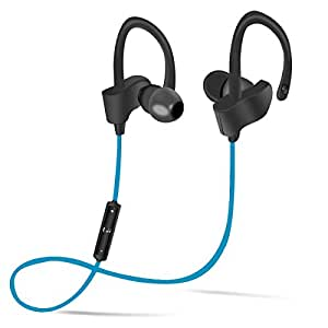 Wireless Bluetooth Headphones, Ergonomic Earhook Design for Sports/Running, Stereo Earphones with Build-in Microphone Sweatproof and Noise Cancelling
