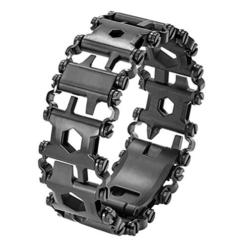 Armband Outdoor Survival 29 In 1 Edelstahl Tragbare Armband Outdoor-Zubehör Plus Harte Multifunktionale Herren Klassiker,Black