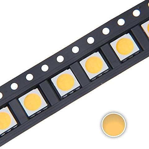 Chanzon 100 pcs 5050 Warm White 3000K SMD LED Diode