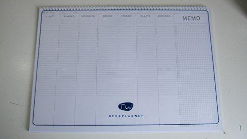 Planning da tavolo formato 34x24 cm non datato - Agenda da tavolo settimanale ...