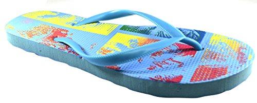 Octave , Tongs pour femme Tropical Design - Light Blue