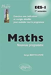 Maths ECS-1 1er Semestre Programme 2013