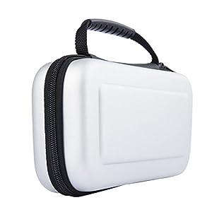 PEMOTech Nintendo Switch Hülle, Schützender harter tragbarer Reisenkoffer mit abnehmbaren Handgelenk. Und 5 Built-in Game Kartenhaber für Nintendo Switch Weiß (2017) &Zubehör