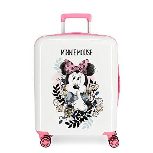Disney Style Valigia per bambini, 55 cm, 38 liters, Bianco