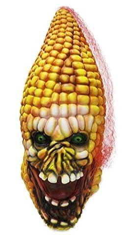 Masque de maïs de Halloween, Jeasun Masques effrayants Latex Zombie Cob Masque Légumes Tête pour adultes pour costumes d'Halloween Carnaval Festival