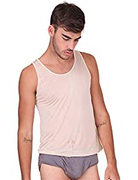 ed2318551e Forever Angel Men's Pure Silk Knitted Vest Tank Top T Shirts
