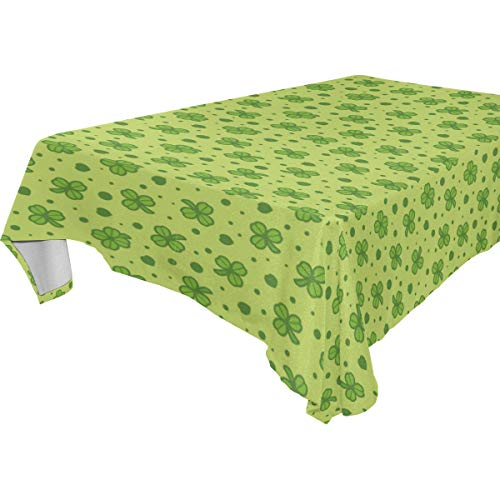 mit grünen Blumen, 137,2 x 137,2 cm, Polyester, Tisch-Dekoration, Polyester, Mehrfarbig, 54 x 54 (in) ()