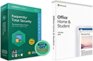 Kaspersky Total Security - 1 User, 1 Year (CD)&Microsoft Home and Student 2019, One-Time Purchase - Lifeti