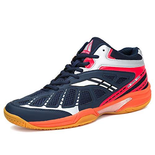 Mishansha Herren Damen Badmintonschuhe Leichte Laufschuhe Sportschuhe Non-Slip Indoor Outdoorschuhe Freizeit Joggingschuhe Dark Blau Gr.40
