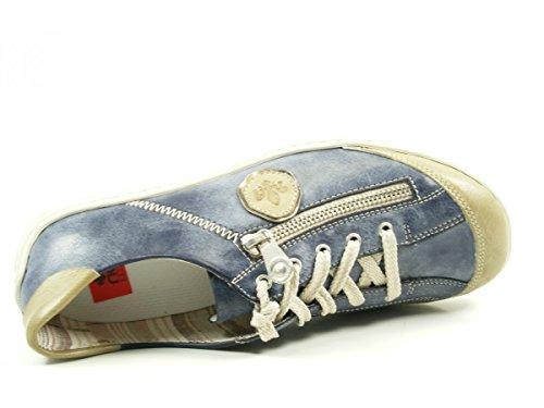 Rieker M3724 Chaussures de ville à lacets pour femme Blau