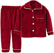 Pigiami Due Pezzi Bambine e Ragazze Neonato Autunno Inverno Bambino Outfits Vestiti Caldo Flanella Manica Lung