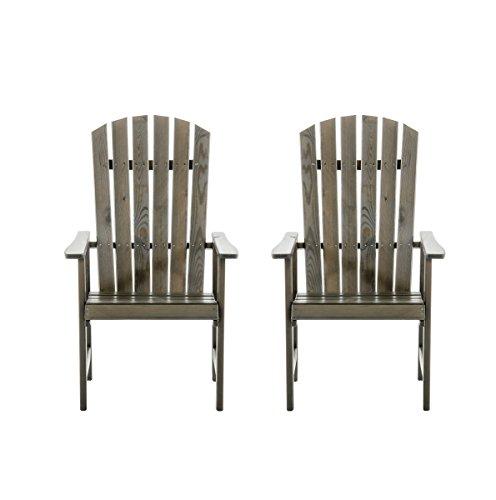 Winter Angebot 2er Set Massivholz Sessel Stuhl STRANDA Gartenstuhl Taupegrau