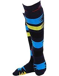 bwiv Unisex alto rendimiento acolchado calcetines de esquí patinaje ciclismo invierno de acampada y protección, Unisex, color azul oscuro, tamaño Small