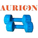 Aurion PVC Plastic Dumbell Set, 5Kg (Set of 2)(Blue)