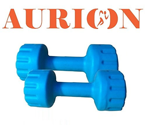 Aurion PVC5 Plastic Dumbell Set, 10Kg, (Blue)