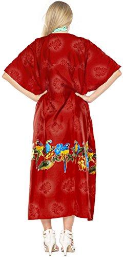 lungo caftano abito kimono coprire donne beachwear abito costume da bagno costume da bagno Rosso