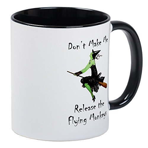 Make Me Version The Flying Monkey Tasse - Einzigartige Kaffee Tasse, Kaffeetasse, Tee, Tasse, White/Black Inside, S ()