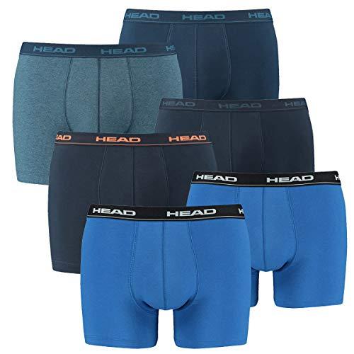 HEAD Herren Boxershorts 841001001 6er Pack, Wäschegröße:XL;Artikel:1x2er blau / 1x2er peacoat/orange / 1x2er Blue Heaven -