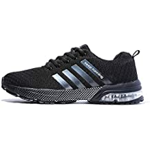 big sale 4aa25 35b2e FUSHITON Chaussures de Course Air Coussin Semelle Respirant Confort Sport  Athlétique Sneakers Baskets Femmes Hommes