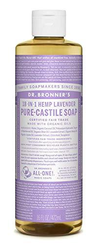 Dr. Bronner's: Lavendel Liquid Soap - Flüssigseife 475 ml - Dr. Bronners Seife Lavendel