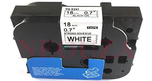 ACD extra forza adesiva compatibile per Brother P-Touch TZe TZ nero su bianco Label tape 6mm 9mm 12mm 18mm 24mm 36mm TZe-S241 18mm Black/White