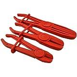 Spttools Lot de 3pinces de serrage pour durite flexible de carburant liquide de frein