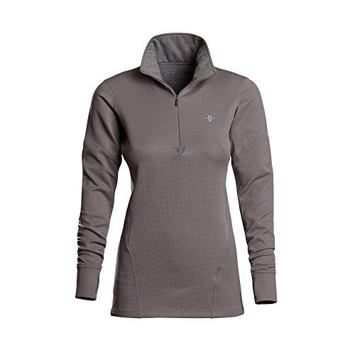 Vargo Damen Ingot 1/4 Zip Shirt, Grau, Large -