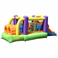 Obstacle Course Kids Bouncy Castle with Slide - Large childrens home use garden play centre