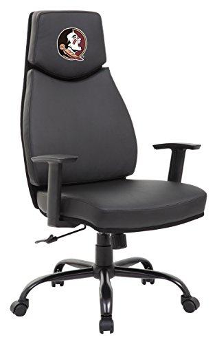 Proline Bürostuhl NCAA Leder, Florida State Seminoles Office Chair, schwarz, Einheitsgröße -
