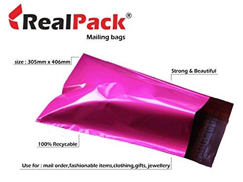 Realpack - Bolsas plástico envíos postales 100 unidades