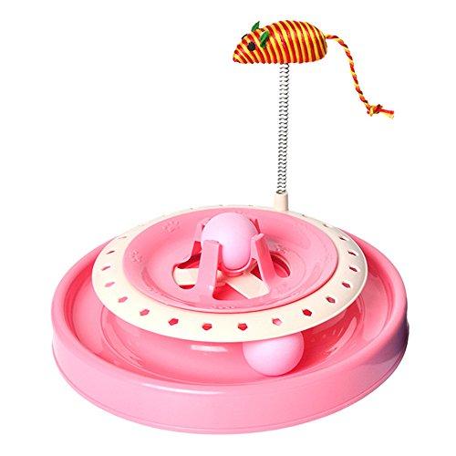 smartrich Roller Tower Spielzeug für Katzen, interaktives Funny truntable Spielzeug für Katzen Pets Training Übung (Bewegen Sie Ihn Entlang)