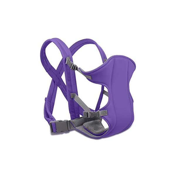 SONARIN 2018 Simple and Lightweight Baby Carrier,Light,Convenient,Breathable,Free Size,Ergonomic,3 Carrying Positions,Safe and Comfortable,Adapted to Your Child's Growing,Ideal Gift(Purple) SONARIN Applicable age and Weight:3-24 months of the baby, the maximum load: 15KG. Recommendations can be based on the growth of the baby's weight to choose the appropriate use method, face-in type: 3 months or more, back type: 6 months or more, face-out type:6 months or more. Material:designers choose comfortable and cool polyester fabric, using 3D breathable mesh, washable, do not fade, no irritation to the baby's skin, to the baby comfortable and safe experience. Description: simple and lightweight design so that the baby carrier is very simple, convenient, light.patented design of the auxiliary spine micro-C structure and leg opening design, natural M-type sitting. Widen the shoulder strap and belt will be effective to disperse the baby's weight to the shoulder and waist, so that mother more effort. 2