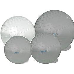 Gymnic Opti pelota de gimnasia 75cm transparente Terapia Balón Asiento Entrenamiento de balonmano