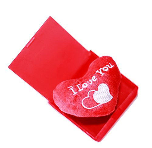 Atnep Surprise Box Pop-Up Heart With Music - I Love You (When Open), Square Shape - Red