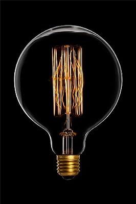 DANLAMP Schmucklampe MEGA Edison Globe rustikal 60W / 240V / E27 / 12cm Durchmesser / antik von DANLAMP bei Lampenhans.de
