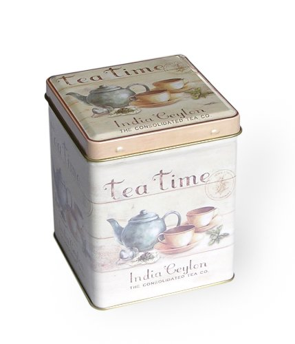 Buzz - scatola portatè con stampa della india ceylon tea company, 9,5 cm