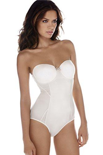 BODY WRAP Damen Formender Body Blanc Chatoyant