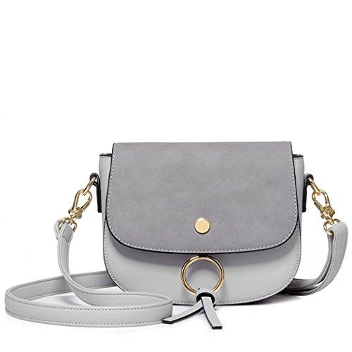 FAIRYSAN, Borsa a tracolla donna grigio Grey small Grey