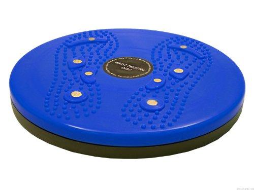 Hüft- und Bauchtrainer mit Magneten Figur Trimmer Waist Twisting Disk Blau